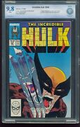 Incredible Hulk 340 Cbcs 9.8 Nm/m Iconic Mcfarlane Cover Wolverine Appears G-546