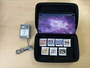 Nintendo New 3ds Xl Galaxy Edition With Charger And Stylus And 7 Games
