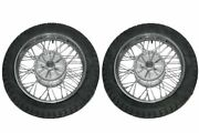 New 2 Complete Front Rear 16 Inch 36 Holes Wheel Rim + Tyre Tube For Jawa 356