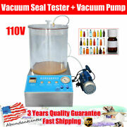 Vacuum Seal Tester + Vacuum Pump 110v For Food Packaging Bags Bottles Cans Usa