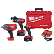 Milwaukee Hammer Drill Impact Driver Combo Kit 18v Lithium-ion 2-tool