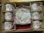 Hammersley Deadstock Cup And Saucer Set Of 6 With Box Fine Bone China England
