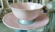 Paragon Butterfly Handle Cup And Saucer Pink Light Blue Vintage England 1952-1960