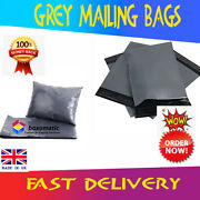 Grey Mailing Bags Strong Cheap Recyclable Post Plastic Poly Self Seal