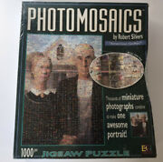 Photomosaics American Gothic Puzzle Over 1000 Pieces 20x28 New
