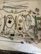 Lot Of 72 Vintage All Signed High End Jewelry Including Haskell Trifari Monet