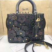 Coach Limited Edition Sold Out Rare Rogue 25 Tea Rose Black F/s Fedex