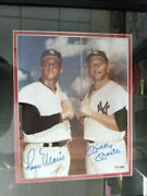Mlb Photo Signed By Roger Maris And Mickey Mantle With Coa Psa Dna Yankees