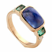 Natural Sapphire Gemstone Solid 925 Sterling Silver Wedding Womens Ring Jewelry