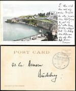 Puerto Rico Postcard Mailed To Germany 1904. German Navy Sea Post Sms Panther