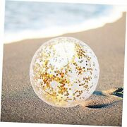 Sequin Beach Ball Jumbo Pool Toys Balls Giant Glitter Inflatable Clear Gold