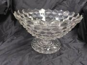 Fostoria Crystal American 12.5 Tom And Jerry Punch Bowl