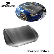 Front Bumper Engine Hood Full Replacement Fit For Audi A5 S5 12-16 Carbon Fiber