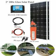 Solar Powered Submersible Water Pump 200w Deep Well Complete Irrigation System