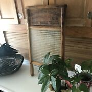 Vintage Wood And Glass National Wash Board Company Number 510