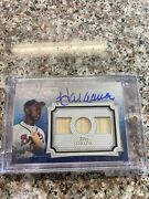 Hank Aaron Topps Sterling Auto Relic... /10