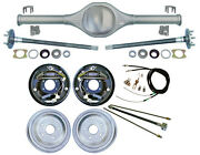 Currie Rear End And 10 Drum Brakes,axles,lines,cable,fits Jeep Xj Cherokee,84-01