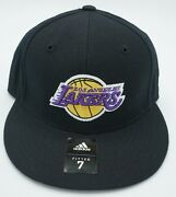 Nba Los Angeles Lakers Adidas Adult Fitted Structured Cap Hat Beanie New