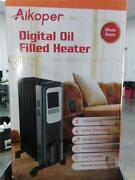 Aikoper Space Heater 1500w Oil Filled Radiator Heater With 24-hours Timer