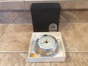 Vintage Airguide 7 Jewels 8 Day Nautical Ships Wheel Clock In Box