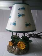 John Dee Tractor Lamp 1999 Pre Owned With Original Shade