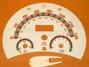 1998-2004 Vw Beetle Bug Manual White Glow Through Gauges 140mph Red Accent