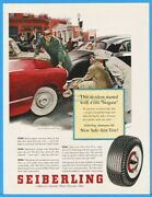 1953 Seiberling Rubber Co Akron Oh Car Tires Fender Bender George Hughes Art Ad