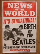 The Beatles 1978 U.k. Newspaper Poster The Birth Of The Beatles By Pete Best