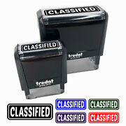 Classified Reversed Self-inking Rubber Stamp Ink Stamper For Business Office