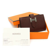 Hermes Coin Card Case Purse Beanmini A-engraved Women And039s Used S