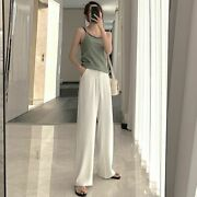 Women's Loose Summer Pants Wool Thin Pencil Female High Waisted Stylish Trousers