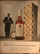 Walkers Deluxe Bourbonready To Sign And Give Elegant1955 Vintage Print Ad B08