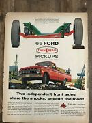 Ford Twin I Beam Pickupssmooth On The Road1964 Vintage Print Ad A76