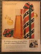 Walkers Deluxe Bourbonno Whiskey Is More Deluxe Gift1947 Vintage Print Ad B08