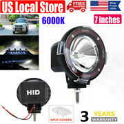 1pair 7 Inches 4x4 Offroad 6000k 200w Xenon Hid Fog Lamp Light For Atv Suv Truck