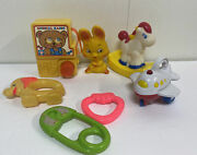 Vintage Baby Toys Lot Of 7 Fisher Price Shelcore Buddy L 70's 80's Rattle Radio