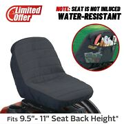 Universal Small Classic Lawn Mower Seat Cover With Pockets Riding Garden Tractor