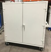 Stronghold Products 55-243cag Mobile Secure Storage Cabinet 60 X 24 X 67.5 H