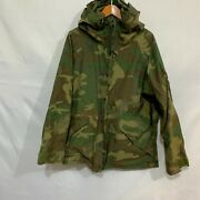 Us Military Issue Mens Green Cold Weather Camouflage Parka Size Large Regular