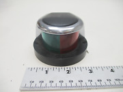 Perko Marine Boat Front Bow Navigation Light Green Red Chrome W/ Black Inlay