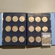☆high Grade☆ Peace Dollar Complete Set 1921-1935 [24] Silver Dollars 1928 Xf40