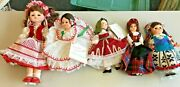 Madame Alexander And Other Assorted Vintage Dolls Lot 5 Pcs Circa 1970s Early 80s