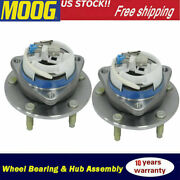 2x Rear Moog Wheel Hub And Bearing Assembly For Chevy Corvette Xlr 5 Bolts W/ Abs
