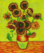 Oil Flowers Sunflower Paintings On Canvas Size 2020 Inches
