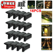 4/8/16pcs Solar Led Deck Lights Yard Path Garden Pathway Stairs Step Fence Lamp