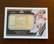 2020 Impeccable Grant Hill Hall Of Fame Logo 1oz Silver Bar/20 Card 12/20 4