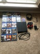 Sony Ps4 500gb Model With 18 Games + External Drive, Changing Doc, And Headset