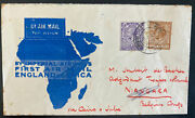 1931 London England First Flight Cover To Belgian Congo 5 Sent Imperial Airways