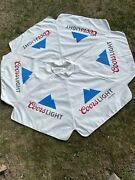 Coors Light 7 Foot Beer Patio Umbrella Market Style Huge - Canopy Only