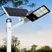 300w Led Solar Street Lights Outdoor Dusk To Dawn Security Flood Light With Rem
